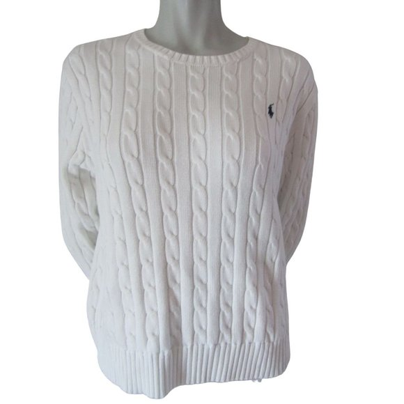 Polo Ralph Lauren Cotton Cable Knit Sweater XL